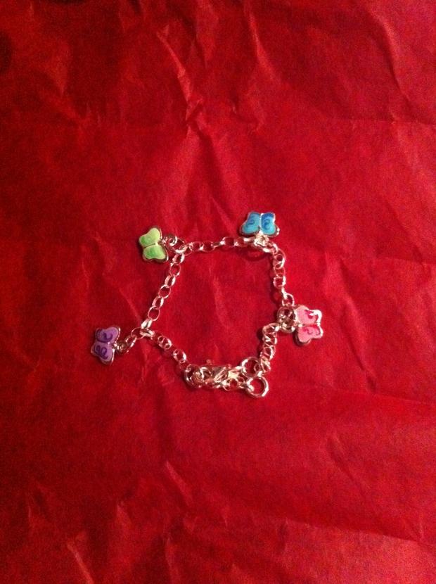barnsmycke, smycke, fjärilar
