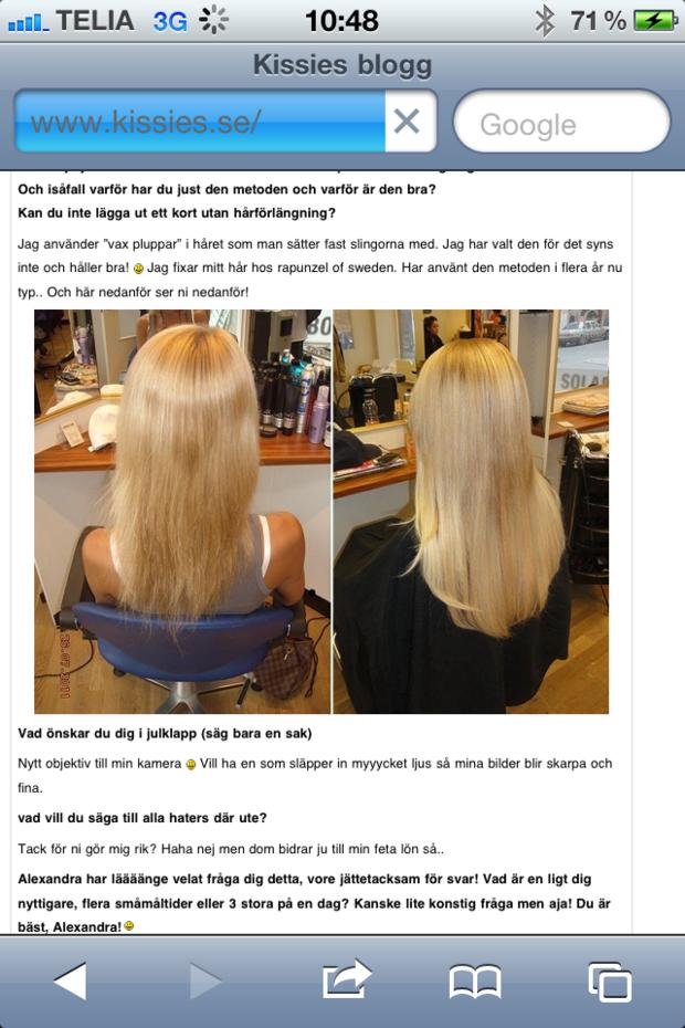 Kissie, Alexandra Nilsson, Wendys Hair, hårförlängning, löshår,hairextensions