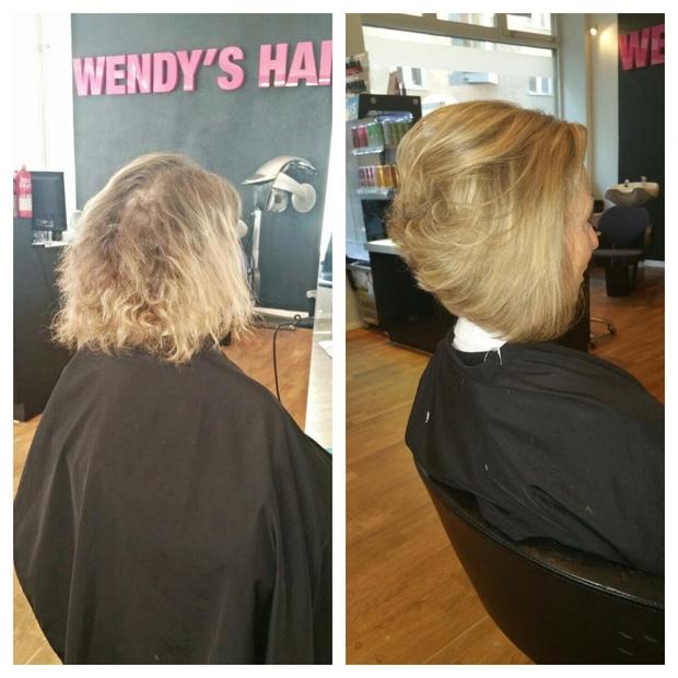 Olaplex slitet hår