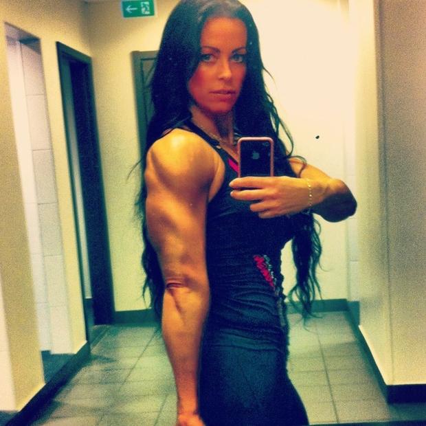 adriana kuhl, fitness, bodyfitness, sats odenplan, ttriceps
