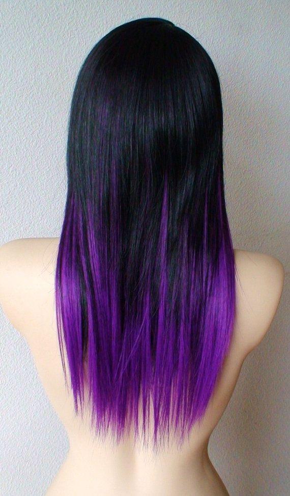 färga håret lila från svart