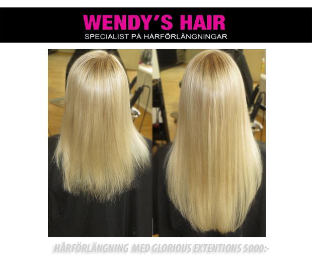 hårförlängning med microringar