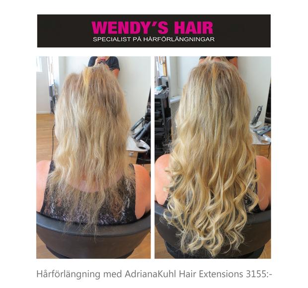 hårförlängning tunt hår